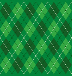 green and white seamless argyle pattern background vector image