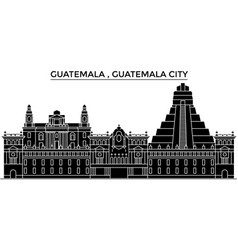 Guatemala guatemala city architecture vector