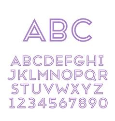 Handmade sans-serif font vector