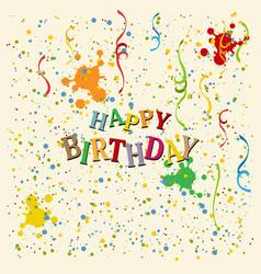 Happy birthday background eps10 vector