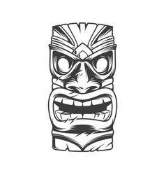 Hawaiian traditional tribal tiki mask vector