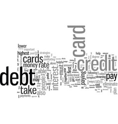 How to eliminate credit card debt vector