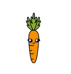 kawaii cute tender carrot vegetable vector image