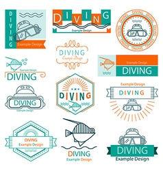 label diving vector image