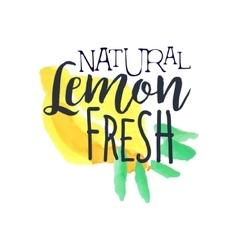 Lemon 100 Percent Fresh Juice Promo Sign vector