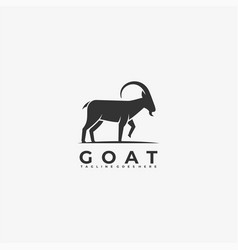 logo goat silhouette style vector image