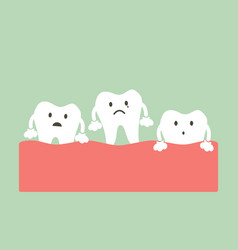Loose tooth vector