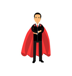 male superhero in classic business suit with tie vector image