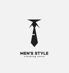 mens style logo vector image