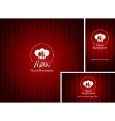 menus and business cards for restaurant vector image vector image