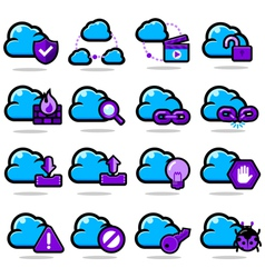 Network communication icon set vector image vector image