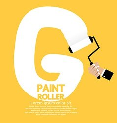 Paint Roller Alphabet G vector
