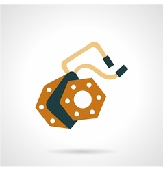 Part for e-bike flat icon vector image