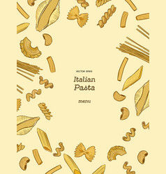 pasta collection hand draw sketch vector image
