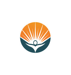 People care and sun nature therapy logo vector