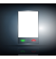 phone with a transparent body on a dark background vector image