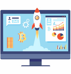 pilot project in banking web banner blockchain vector image