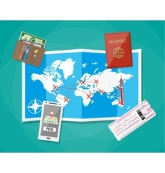 planning a vacation concept vector image