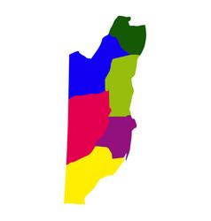 political map of belize vector image