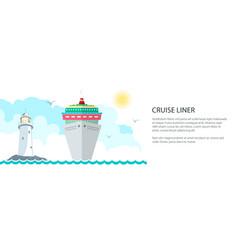 sea voyage banner vector image