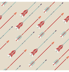 seamless colorful ethnic pattern with arrows vector image vector image