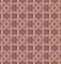 Seamless Golden Geometric Pattern vector image