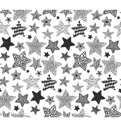 seamless pattern with black hand drawn vector image