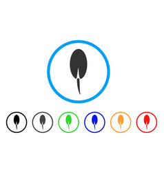 Seed root rounded icon vector