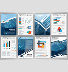 set of infographic presentation templates busines vector image