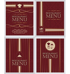 set restaurant menu design cover template in vector image