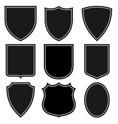 set shields coat arms set signs vector image
