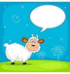 Sheep wishing Eid mubarak vector