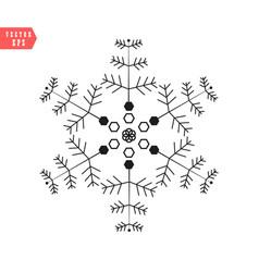 Snowflake icon simple flat single color vector
