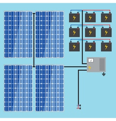 Solar battery energy panel home power eco sun en vector
