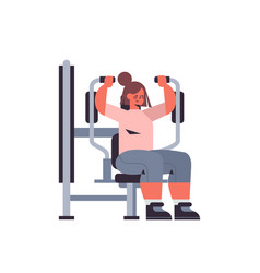 sportswoman exercising on training apparatus girl vector image