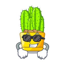 super cool cereus cactus bouquet on character vector image