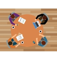 team work discuss together view from top vector image