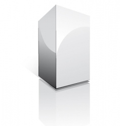 three dimensional box vector image
