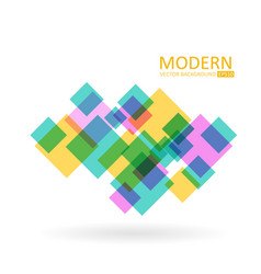 transparent squares modern abstract vector image