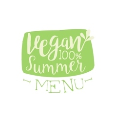 Vegan summer calligraphic cafe board vector