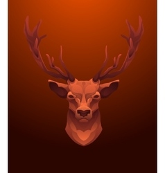 Vintage Deer label Retro design graphic vector image