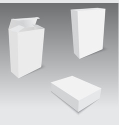 White product package box with hang slot mock up vector