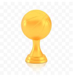 Winner basketball cup award golden trophy logo vector