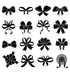 Ribbon knot icons set vector image vector image
