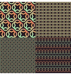 Set of four brown abstract retro color patterns vector image