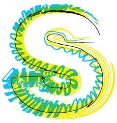 Sketch font Letter S vector image