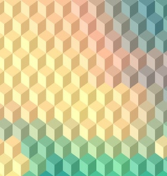 Technology cube background vector image
