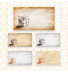 Hand drawn greeting or gift card designs vector image vector image