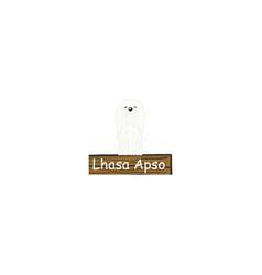 lhasa apso cartoon dog icon vector image