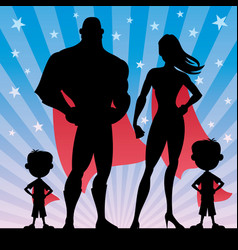 superhero family boys vector image